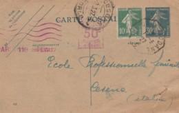 INTERO POSTALE 1927 FRANCIA  (VX635 - Francia