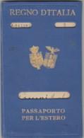 PASSAPORTO PER L'ESTERO 1928 (VX759 - Documenti Storici