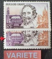 R1591/521 - 1963 - HUGO De GROOT - N°1386 TIMBRES NEUFS** - VARIETE ➤➤➤ Différence De Nuance Du Violet - Variétés Et Curiosités