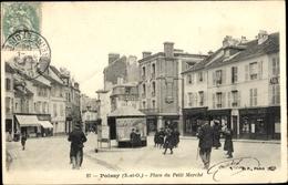 Cp Poissy Yvelines, Place Du Petit Marche - France