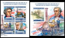 DJIBOUTI 2019 - R. Stephenson, Trains . M/S + S/S Official Issue [DJB190517] - Trains