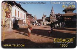 Nepal - Nepal Telecom - Easycall - Bhaktapur Square, Exp.31.12.2009, Prepaid 200Rs, Used - Nepal