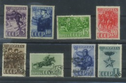 USSR 1941 Michel 793C-800C Perf.12 1/2:12 23rd Anniversary Of Red Army. Used - 1923-1991 URSS