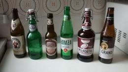 Colección De Botellas Vacías De Cervezas De Europa (también Sueltas) - Regalo Estrella Percebes - Cerveza