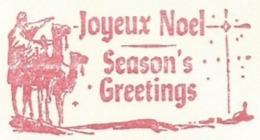 F21 EMA FREISTEMPEL METER Joyeux Noel Season Greetings Christmas Re Magi Three Kings Camels CANADA KITCHENER 1958 - Kerstmis