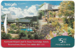 New Zealand - Advertising Cards - Hotels - Auckland Airport & Te Anau, 1993, 5$, 7.500ex, Used - New Zealand