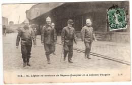 CPA M Lepine En Costume De Sapeurs Pompier Et Le Colonel Vulquin Metiers - Sapeurs-Pompiers