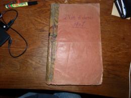 Rare Reliure Journaux En Wallon L'Coq D'awous Année Complète 1908 Pubs Textes Région Charleroi Jumet Gilly Etc Etc - Livres, BD, Revues