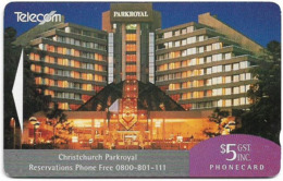 New Zealand - Advertising Cards - Hotels - Christchurch Parkroyal, 1993, 5$, 9.000ex, Used - New Zealand