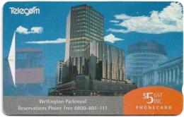 New Zealand - Advertising Cards - Hotels - Wellington Parkroyal, 1993, 5$, 9.000ex, Used - New Zealand