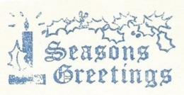 F001 EMA FREISTEMPEL METER Joyeux Noel Season Greetings Christmas Candles CANADA Montreal 1966 Blue Color - Kerstmis