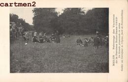 MELUN FONTAINEBLEAU PATRONAGE DES VACANCES A LA PAROISSE NOTRE-DAME 1922 PROMENADE EN AUTOS CAREFOUR DE L'EPINE - Melun
