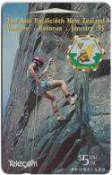 New Zealand - Event Cards - Onwards '92 - Scout Rock Climbing, 1994, 5$, 16.500ex, Used - New Zealand