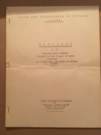 CORSE UNION DES COMBATTANTS CORSES DISCOURS DE MR ROGER PALMIERI - Collections