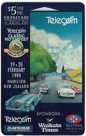 New Zealand - Event Cards - Onwards '92 - Classic Motorfest '94, 1994, 5$, 15.000ex, Used - Neuseeland