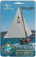 New Zealand - Event Cards - Onwards '92 - 23rd Scout Regatta Sailing, 1994, 5$, 12.000ex, Used - Nouvelle-Zélande