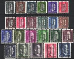 1945 Yvert Nº 553 / 575 MH - 1945-.... 2ª República