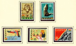 GHANA  -  1963 Nubian Monuments Set Unmounted/Never Hinged Mint - Ghana (1957-...)