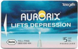 New Zealand - Advertising Cards - Onwards '92 - Aurorix Lifts Depression, 1994, 5$, 14.000ex, Used - New Zealand