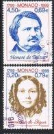 1999 - MONACO - ANNIVERSARI DI SCRITTORI / ANNIVERSARIES OF WRITERS. USATO / USED - Monaco