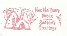 F007 EMA FREISTEMPEL METER Joyeux Noel Season Greetings Christmas Snow Landscape CANADA Ottawa 1973 - Noël