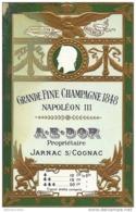 CPA-PUB  GAUFREE - GRANDE FINE CHAMPAGNE 1848 - NAPOLEON III à JARNAC/S/ COGNAC - Advertising