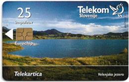Slovenia - Telekom Slovenije - Velenjsko Jezero - 07.2003, 25Units, Chip Gem5 Black, 4.985ex, Used - Slovénie