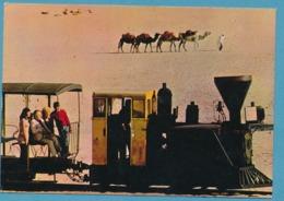 MER DE SABLE Centre Attractif Jean RICHARD ERMENONVILLE N° P12 La Locomotive Le Train Jean Richard Sur Le 1er Wagon - Ermenonville