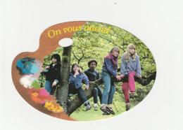 Carte Postale Palette ON VOUS ATTEND Enfants - Groupes D'enfants & Familles