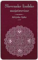 Slovenia - Impulz - Idrijske Čipke 4/4, 28.03.2001, 50Units, 2.500ex, Used - Slovénie
