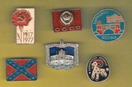 (002) - 6 Pins Les Politiciens (old) - Voir Scaner - Badges