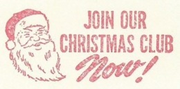 F014 EMA FREISTEMPEL METER Joyeux Noel Season Greetings Christmas Santa Claus CANADA Kitchener 1961 - Noël