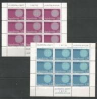 9x YUGOSLAVIA - MNH - Europa-CEPT - Art - 1970 - Europa-CEPT