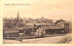 Berzée - Station Et Quartier De L'Eglise (Edit. Paulin-Baillet, Café Restaurant) - Walcourt
