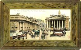 LONDRES LONDON THE BANK OF ENGLAND & THE ROYAL EXCHANGE ATTELAGE TRANSPORTANT DES CARTES POSTALES TUCK S - Autres