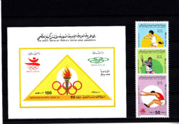 Olympics 1992 - Tennis - LIBYA - S/S Imp.+Set MNH - Summer 1992: Barcelona