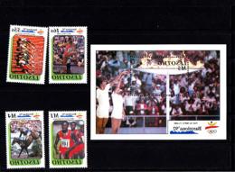 Olympics 1992 - Equestrian - LESOTHO - S/S+Set MNH - Summer 1992: Barcelona