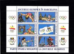 Olympics 1992 - Equestrian - MOLDOVA - Sheet MNH - Summer 1992: Barcelona