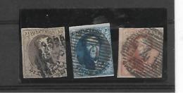 België  N°  10A/12A - 1858-1862 Medaillen (9/12)