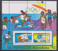 Olympics 1992 - Soccer - NIGERIA - S/S MNH - Summer 1992: Barcelona