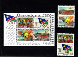 Olympics 1992 - Athletics - NAMIBIA - S/S+Set MNH - Summer 1992: Barcelona