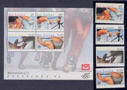 Olympics 1992 - Equestrian - NEW ZEALAND - S/S+Set MNH - Summer 1992: Barcelona