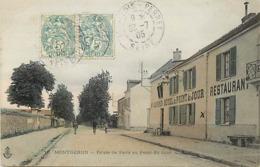 - Essonne -ref-A753- Montgeron - Route De Paris Au Point Du Jour - Hotel Restaurant Au Point Du Jour - Hotels - - Montgeron
