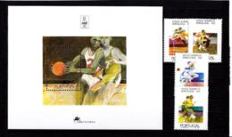 Olympics 1992 - Basketball - PORTUGAL - S/S+Set MNH - Summer 1992: Barcelona