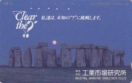 Télécarte Japon / 110-66717  - Archéologie Préhistoire Menhir - Site STONEHENGE & SUNSET England Rel Japan Phonecard  39 - Paysages