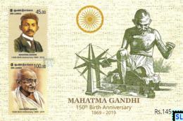 Sri Lanka Stamps 2019, Mahatma Gandhi, India, MS - Sri Lanka (Ceylon) (1948-...)