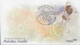 COSTA RICA 150 YEARS BIRTH Of MAHATMA GANDHI PREPAID FDC 2019 - Mahatma Gandhi