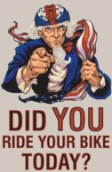 @@@ MAGNET - Did You Ride Your Bike Today, Bicycle - Advertising