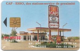 Togo - Togo Telecom - Cap - Esso, Gem1A Symmetric Black, 100Units, Used - Togo