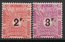Côte Des Somalis - 1927 - Taxe TT N°Yv. 9 Et 10  - Neuf * / MH VF - Côte Française Des Somalis (1894-1967)